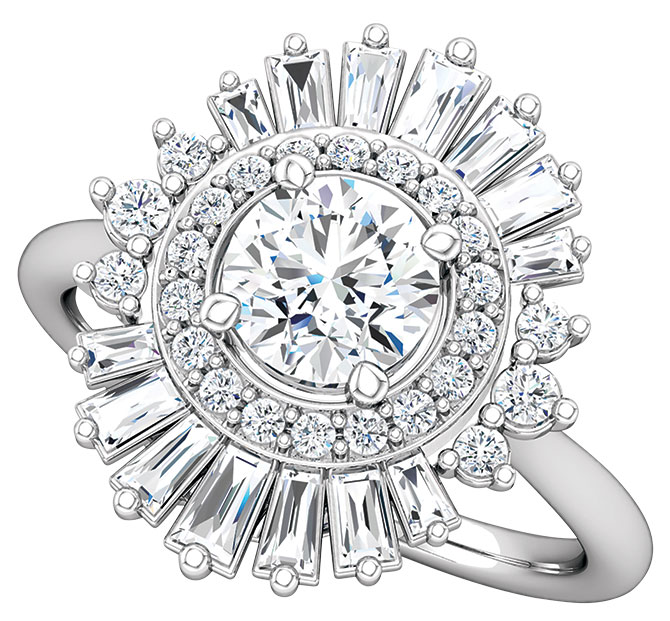 Stuller round diamond semiset ring