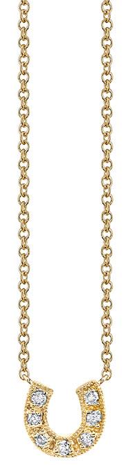 Sydney Evan horseshoe pendant