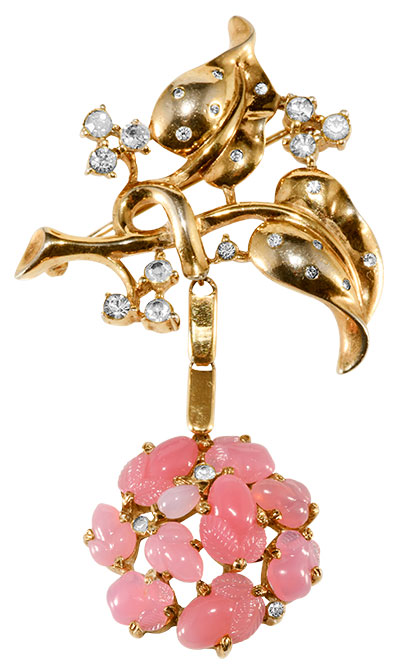 Trifari 1940s fruit salad brooch
