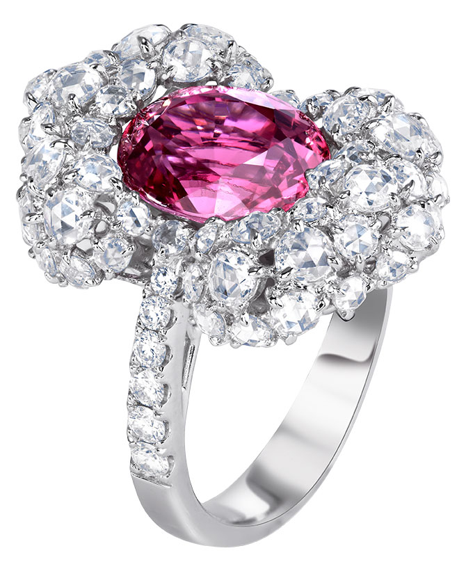 V Tse spinel diamond ring