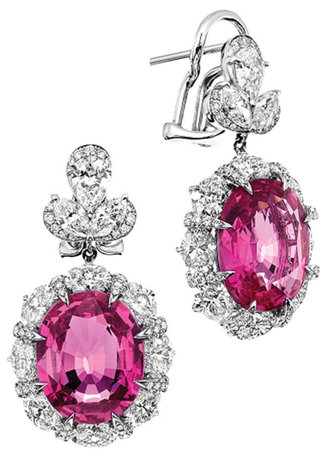 Valani earrings with Madagascar pink sapphires