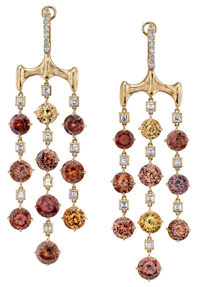 Vram chrona zircon earrings
