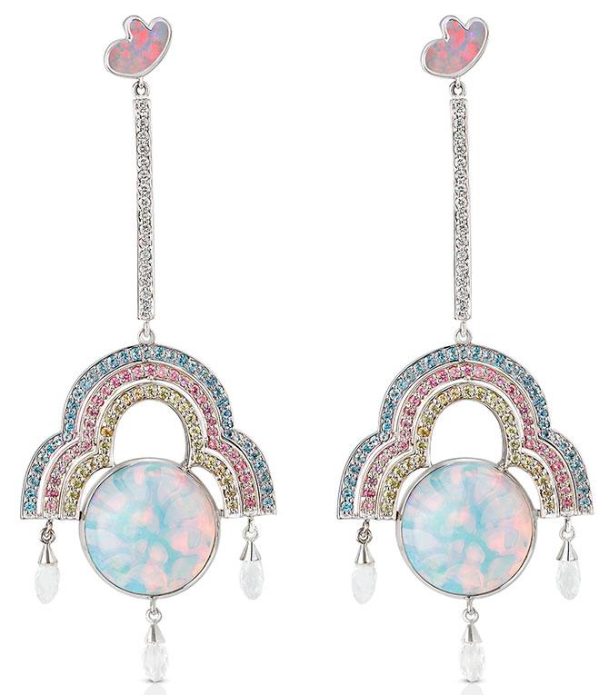 Aisha Baker galaxy earrings
