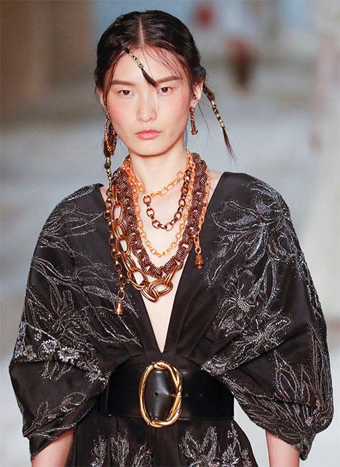 Alexander McQueen spring 2020 model