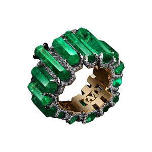 Alexandra Mor emerald ring