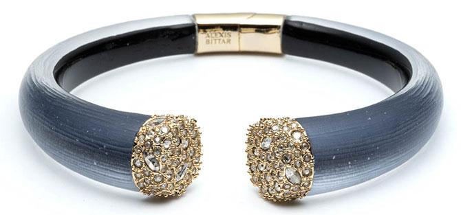 Alexis Bittar black lucite bracelet
