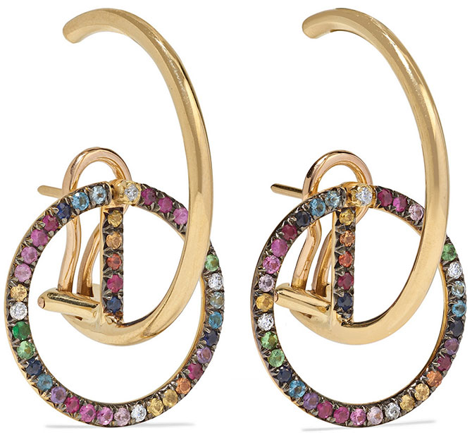 Ana Khouri brigid sapphire diamond earrings