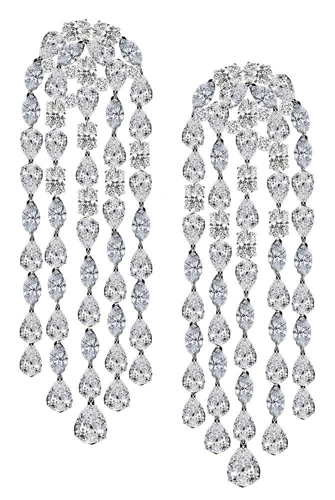 Anabela Chan lab grown cascade earrings