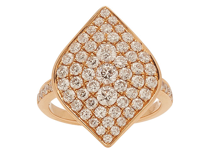 Anita Ko pave marquise diamond ring