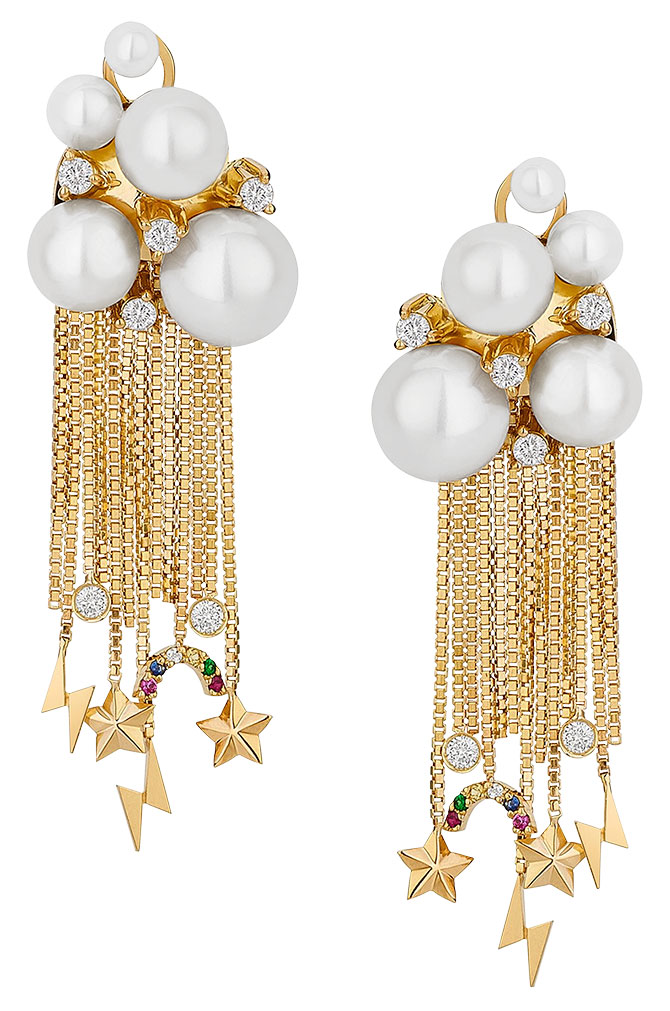 Aron Hirsch nuage earrings with pearls