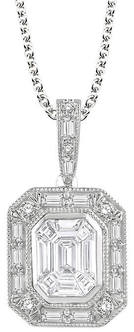 Ashi fusion diamond pendant