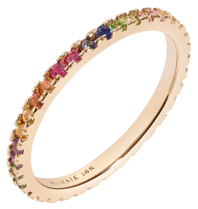 Aurate kaleidoscope quadricolor ring