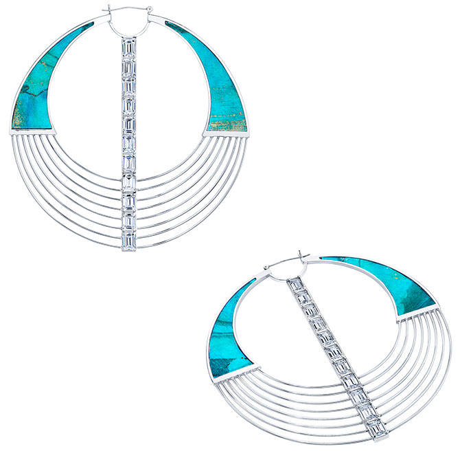 Balmain x Diamond Foundry lab grown earrings