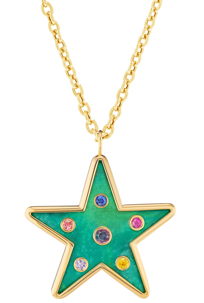 Brent Neale star inlay pendant