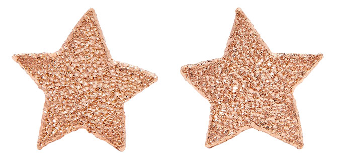 Carolina Bucci rose gold star earrings