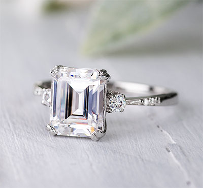 Charles and Colvard forever one moissanite ring