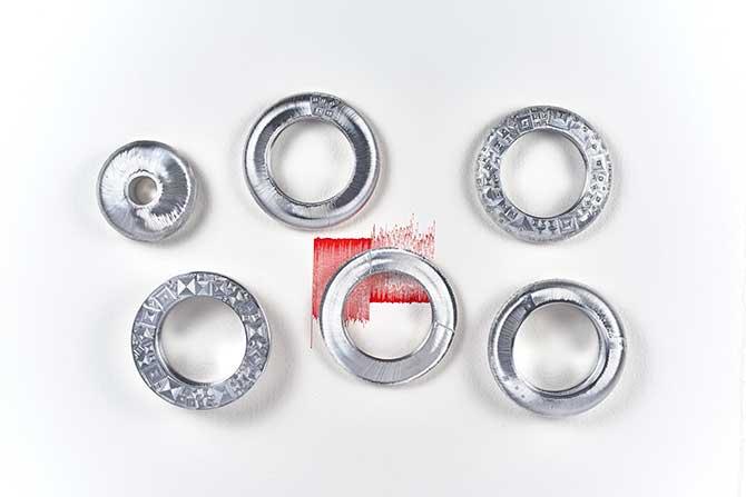 Daniel Brush aluminum bracelets