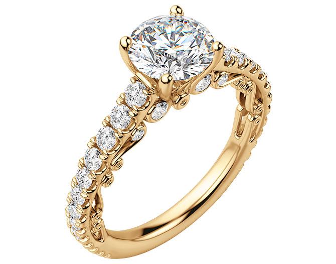 Diamond Nexus fleur simulant ring