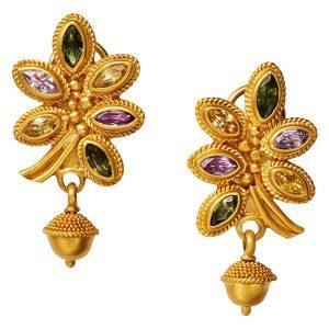 Reinstein Ross acorn and leaf earrings