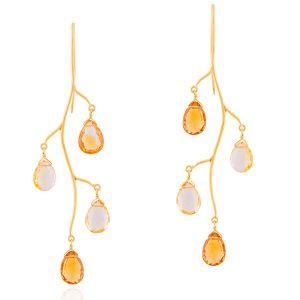 Sanjay Kasliwal citrine earrings