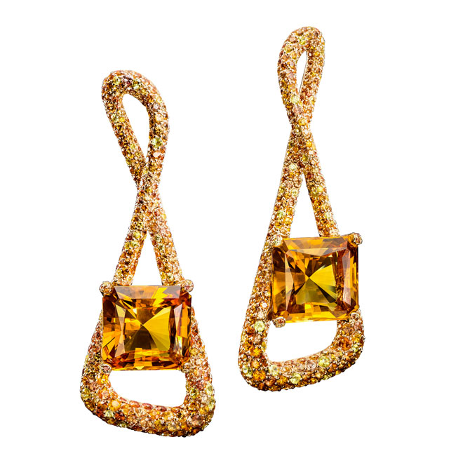 de Grisogono citrine earrings