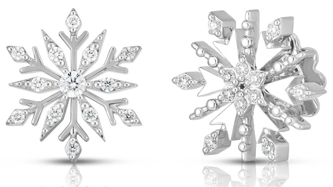 Roberto Coin Frozen 2 snowflake earrings