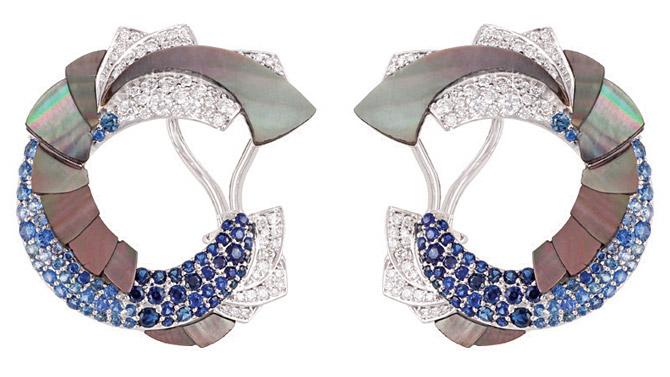 Ananya Mogra Ombre clip earrings