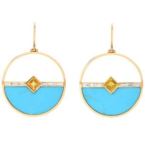 Emily P Wheeler horizon turquoise earrings