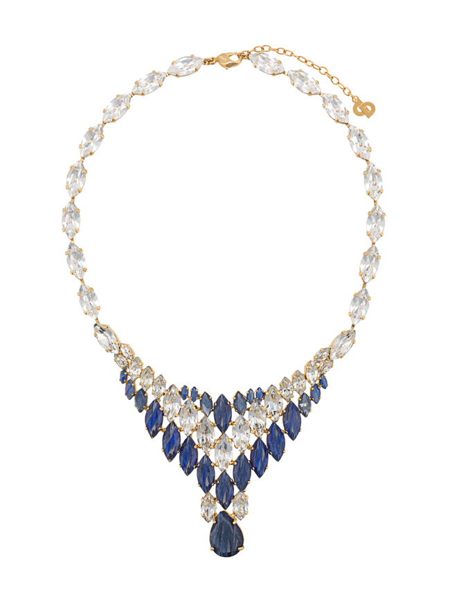 Farfetch x Susan Caplan blue necklace