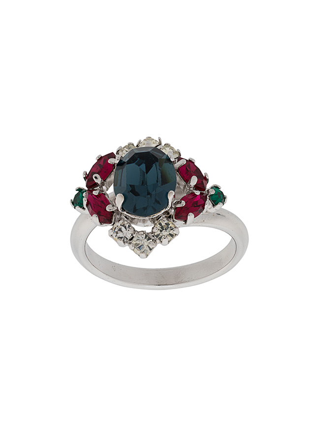 Farfetch x Susan Caplan red green ring