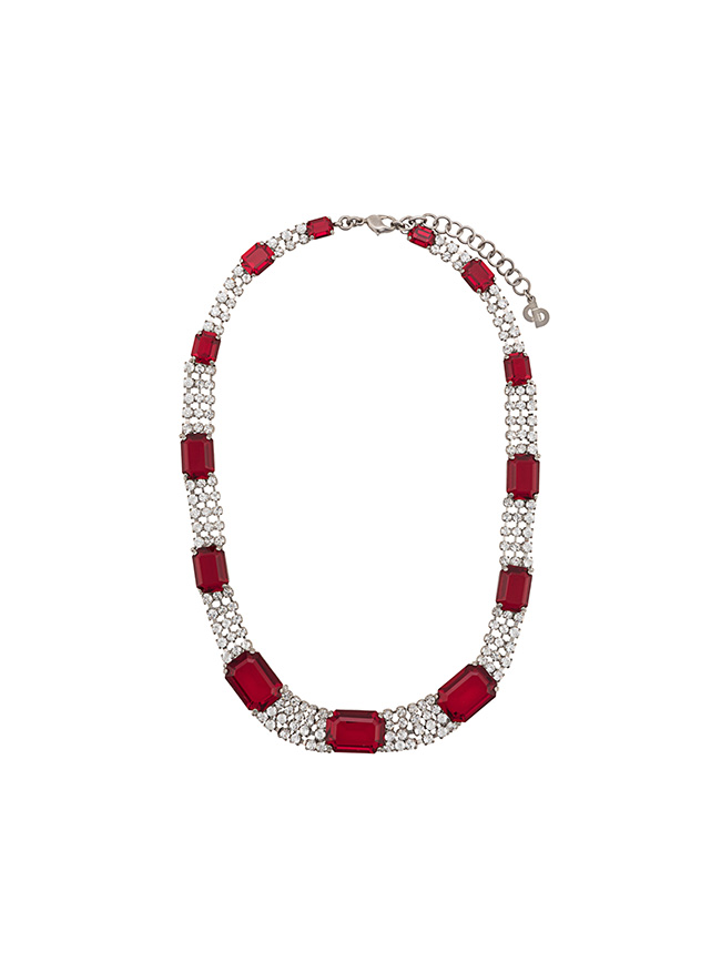 Farfetch x Susan Caplan red necklace