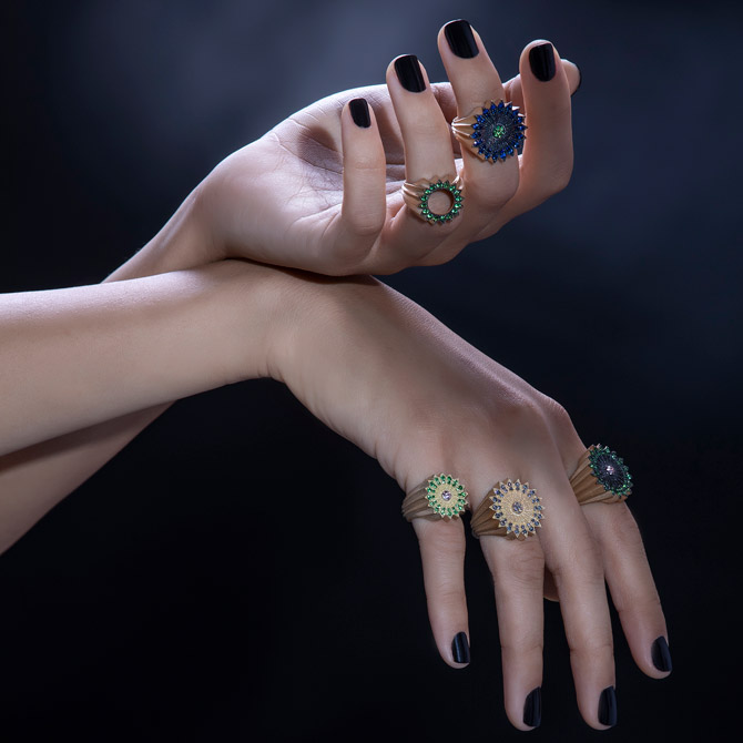 Nada G Power of Light collection rings