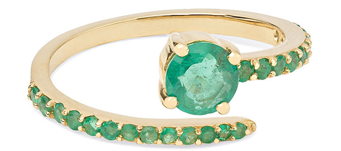 Ileana Makri grass seed emerald ring