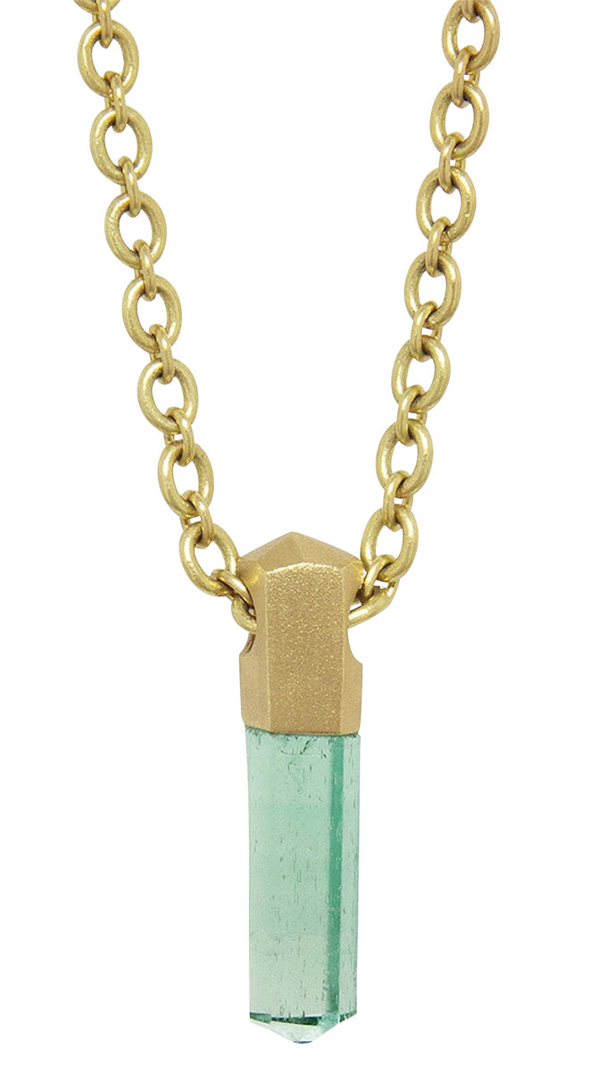 Irene Neuwirth emerald crystal necklace