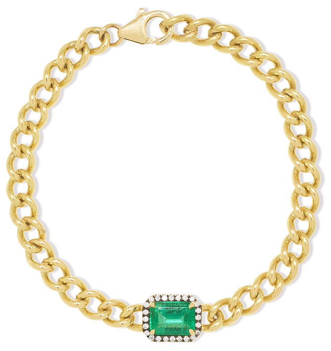 Jemma Wynne emerald diamond bracelet
