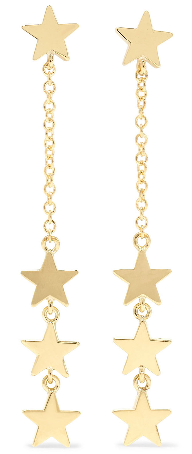 Jennifer Meyer four star gold earrings