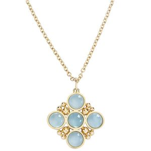 L Klein aqua bubbles necklace