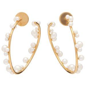 Lauren x Khoo orb earrings with pearls