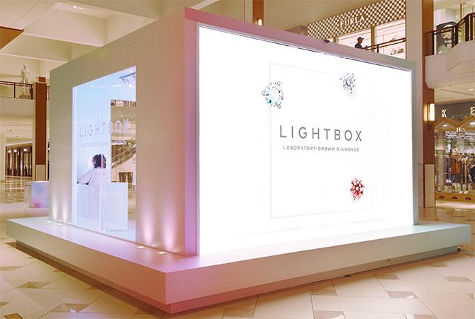 Lightbox popup in Aventura mall
