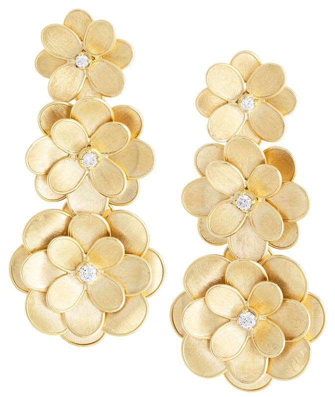 Marco Bicego petali 18k three drop earrings