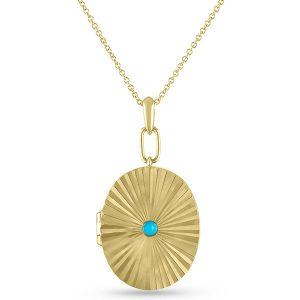My Story farrah gold turquoise locket