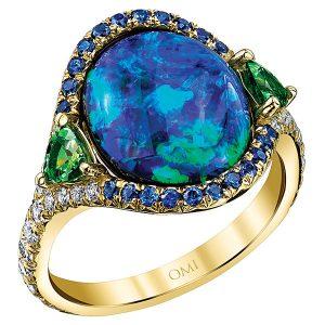Omi Prive Jewelers Choice Award winning opal ring