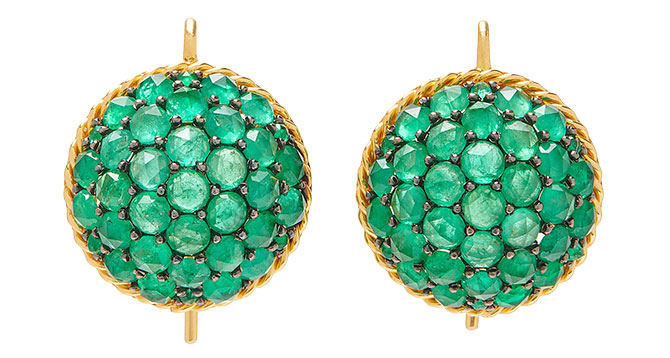 Parulina emerald earrings