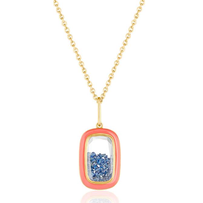 Moritz Glik Muda enamel and sapphire pendant