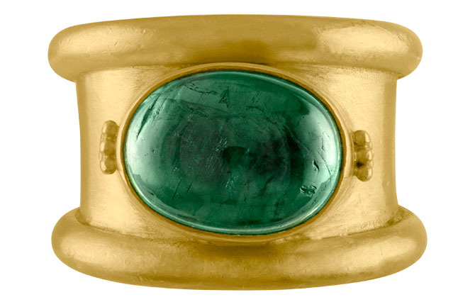 Prounis green tourmaline calda ring