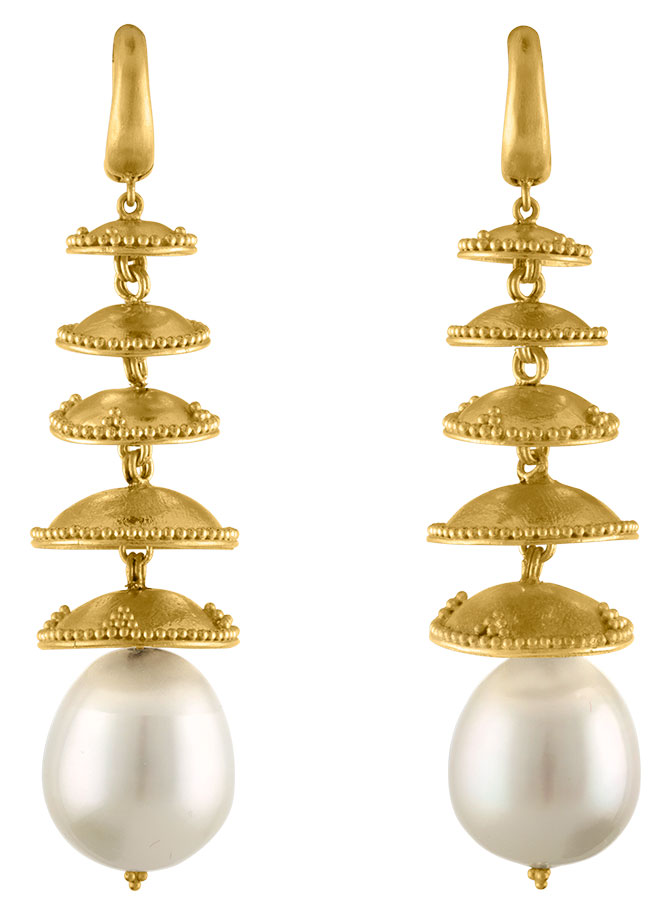Prounis pagona south sea pearl earrings