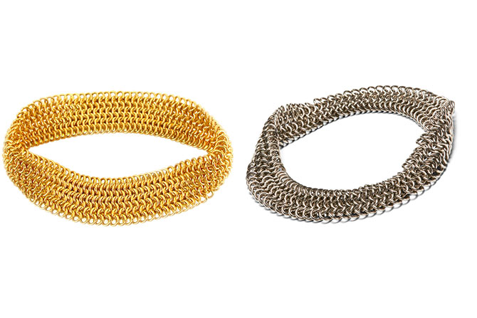 Reinstein Ross white and yellow gold large bracelets
