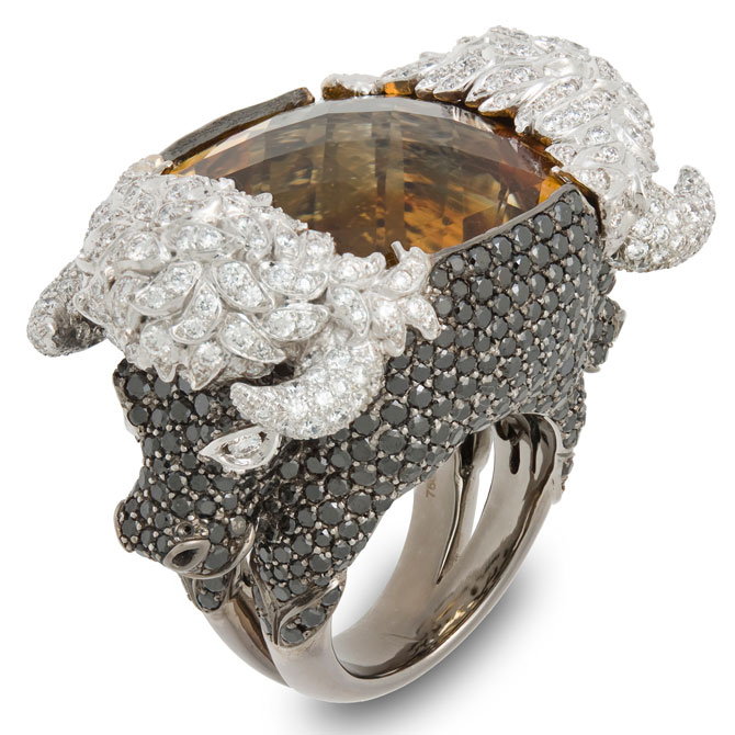 Lydia Courteille citrine ring