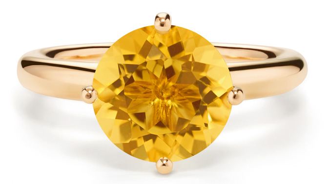 By Kim Sundance 2.0 citrine ring