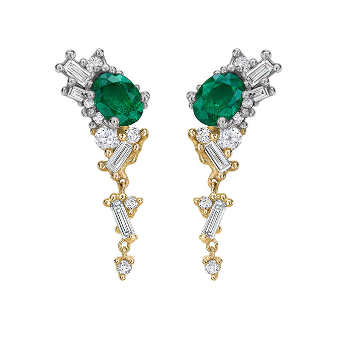 Ruth Tomlinson emerald earrings